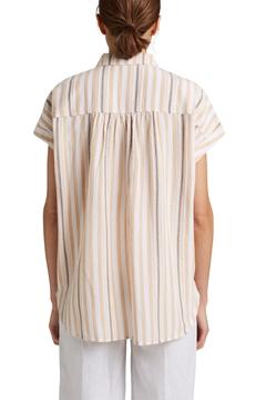 Снимка на SUSTAINABLE Дамска риза с къс ръкав на рейета