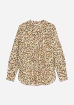 Снимка на SUSTAINABLE Дамска риза на цветя с дълъг ръкав от органичен памук