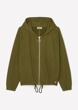 Picture of SUSTAINABLE HOODED SWEATSHIRT JACKET MADE OF ORGANIC COTTON
