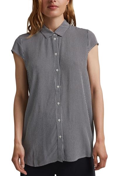 Снимка на SUSTAINABLE Дамска риза с къс ръкав на райета