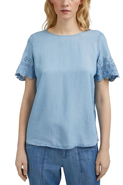 Снимка на SUSTAINABLE Дамска риза с къс ръкав от Lyocell (TENCEL™)