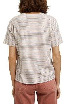 Снимка на SUSTAINABLE Дамска тениска от органичен памук на райета