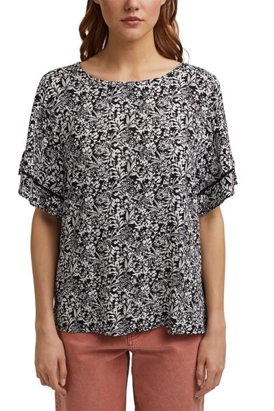 Снимка на SUSTAINABLE Дамска блуза с широк къс ръкав и цветен принт