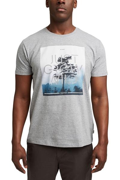 Снимка на SUSTAINABLE Мъжка тениска с фото принт от органичен памук