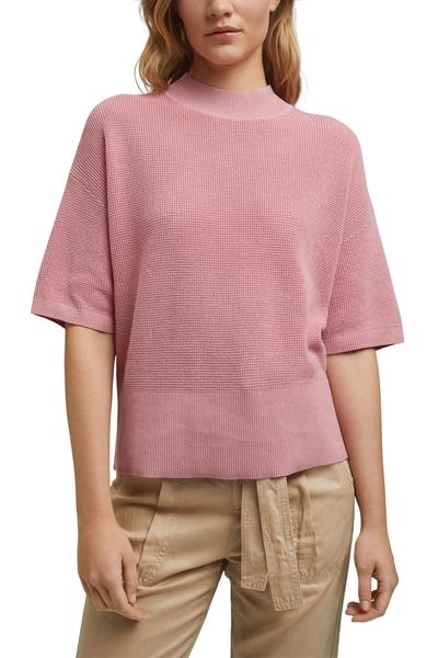 Снимка на SUSTAINABLE Дамски пуловер с къс ръкав от органичен памук