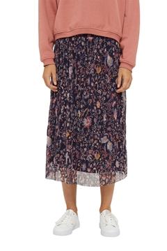 """Снимка на Пола """"midi""""  с плисета и цветен принт"""
