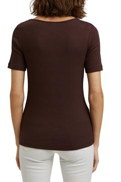 Снимка на SUSTAINABLE Дамска блуза с къс ръкав от органичен памук и модал