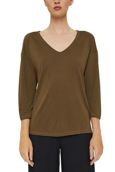 Снимка на SUSTAINABLE Дамска блуза с ¾ ръкав от органичен памук