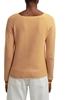 Снимка на SUSTAINABLE Дамски пуловер с дълъг ръкав на райета от органичен памук