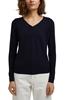 Снимка на SUSTAINABLE Дамски пуловер с V – образно деколте от органичен памук