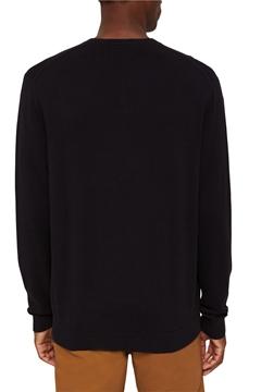 Снимка на Мъжки базов пуловер с V-образно деколте от органичен памук