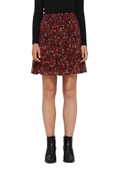 Снимка на Мини пола с флорален принт