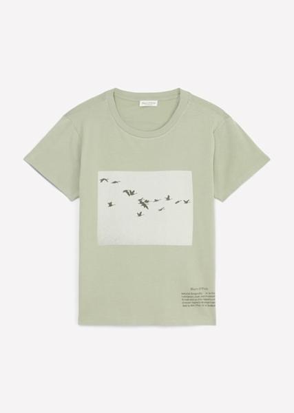 Снимка на SUSTAINABLE Дамска тениска от органичен памук с фото принт