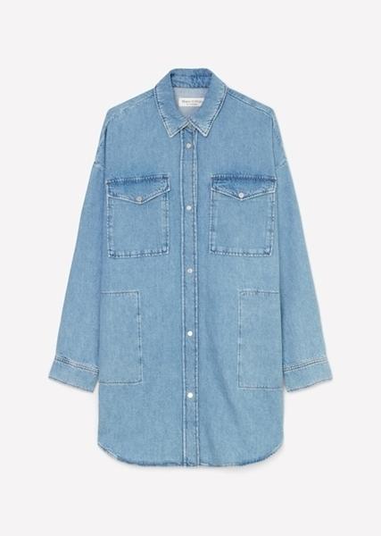 Снимка на Дамска Оvershirt риза от памук, лен и лиосел