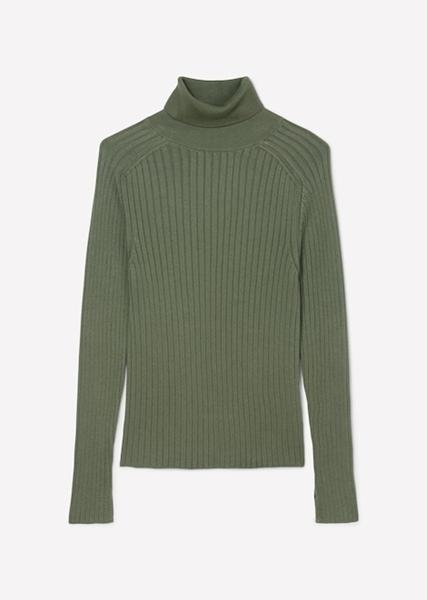Снимка на SUSTAINABLE Дамски пуловер тип поло от органичен памук