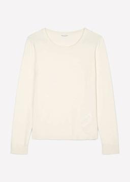 Снимка на SUSTAINABLE Дамски пуловер собло деколте от мека вълна, вискоза и кашмир