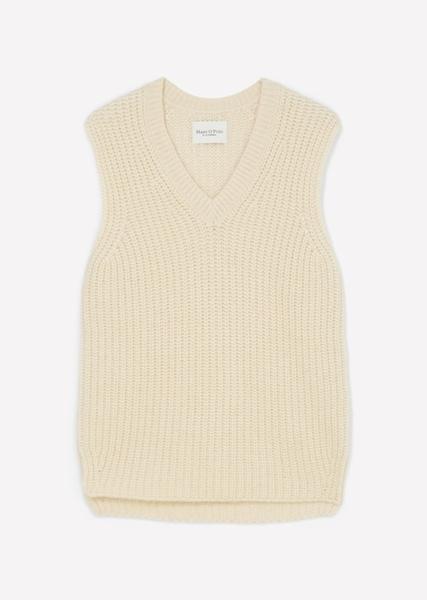 Снимка на SUSTAINABLE Дамски пуловер без ръкави с V-образно деколте