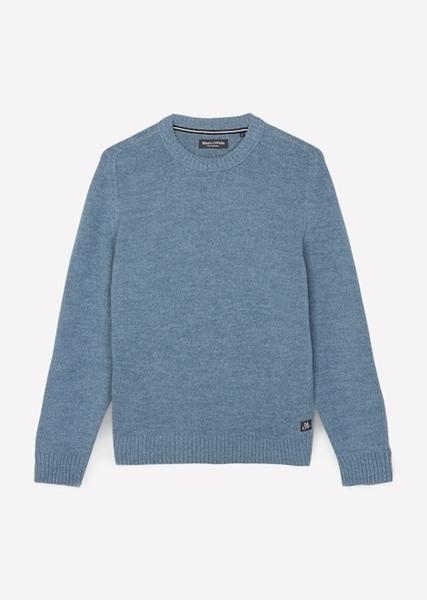 Снимка на Мъжки пуловер с обло деколте от органичен памук