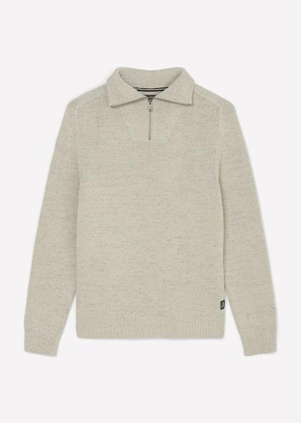 Снимка на Мъжки пуловер с яка с цип