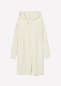 Снимка на Дамска жилетка с качулка от вълна от алпака