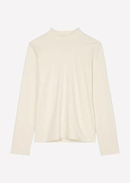 Снимка на SUSTAINABLE Дамска блуза с полуполо яка от органичен памук