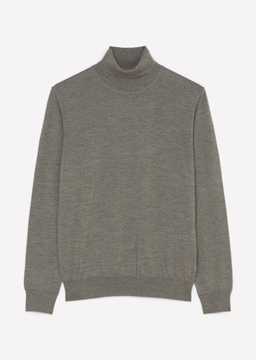 Picture of SUSTAINABLE POLO NECK JUMPER MADE OF ITALIAN MERINO WOOL