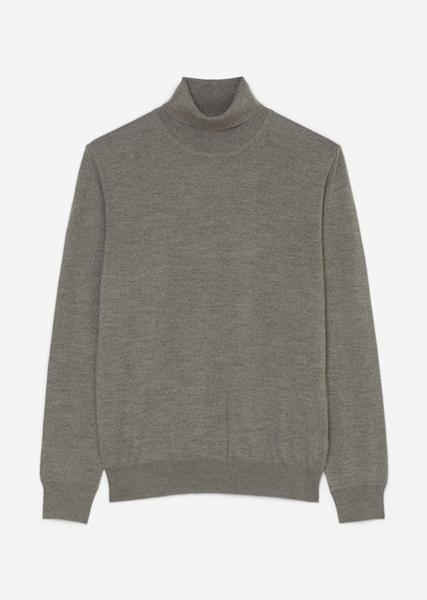 Снимка на SUSTAINABLE Мъжки пуловер поло от висококачествена вълна