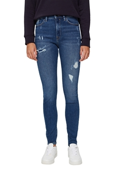 Picture of SUSTAINABLE Skinny jeans in a distressed look, organic cotton