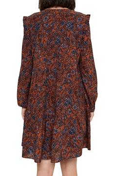 Picture of Frilled print dress made of 100% cotton