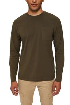 Снимка на Мъжка блуза с дълъг ръкав от органичен памук с джоб на гърдите