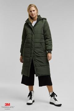 Снимка на Дамско дълго капитонирано яке с качулка