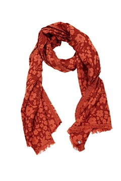 Picture of SUSTAINABLE Woven scarf made of cotton/LENZING™ ECOVERO™