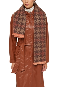 Снимка на SUSTAINABLE Дамски, квадратен шал с пепит