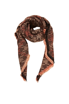 Picture of SUSTAINABLE Recycled: scarf with a large houndstooth pattern