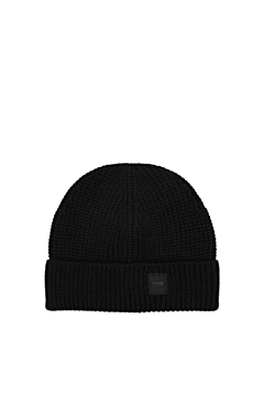 Picture of SUSTAINABLE Ribbed beanie containing RWS wool