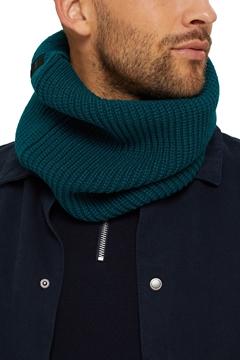 Снимка на SUSTAINABLE Мъжки вълнен шал тип яка