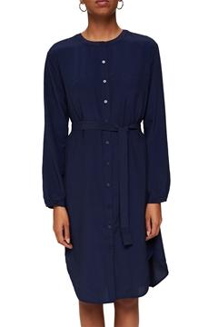 Снимка на SUSTAINABLE Рокля-риза с колан, LENZING™ ECOVERO™