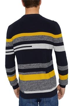 Снимка на SUSTAINABLE Мъжки пуловер на райе от 100% органичен памук