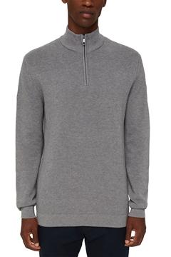 Снимка на Мъжки пуловер с полo яка с цип