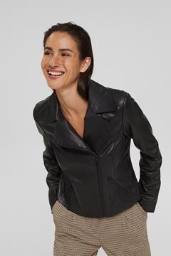 Снимка на SUSTAINABLE Дамско байкърско яке от телешка кожа