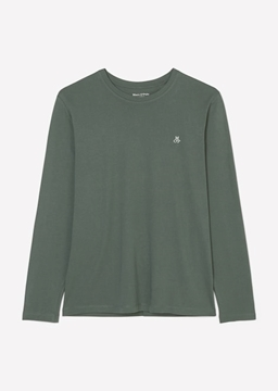 Снимка на Мъжка блуза с дълър ръкав и лого от органичен памук
