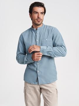 Снимка на SUSTAINABLE Мъжка риза с дълъг ръкав от органичен памук и TENCEL™